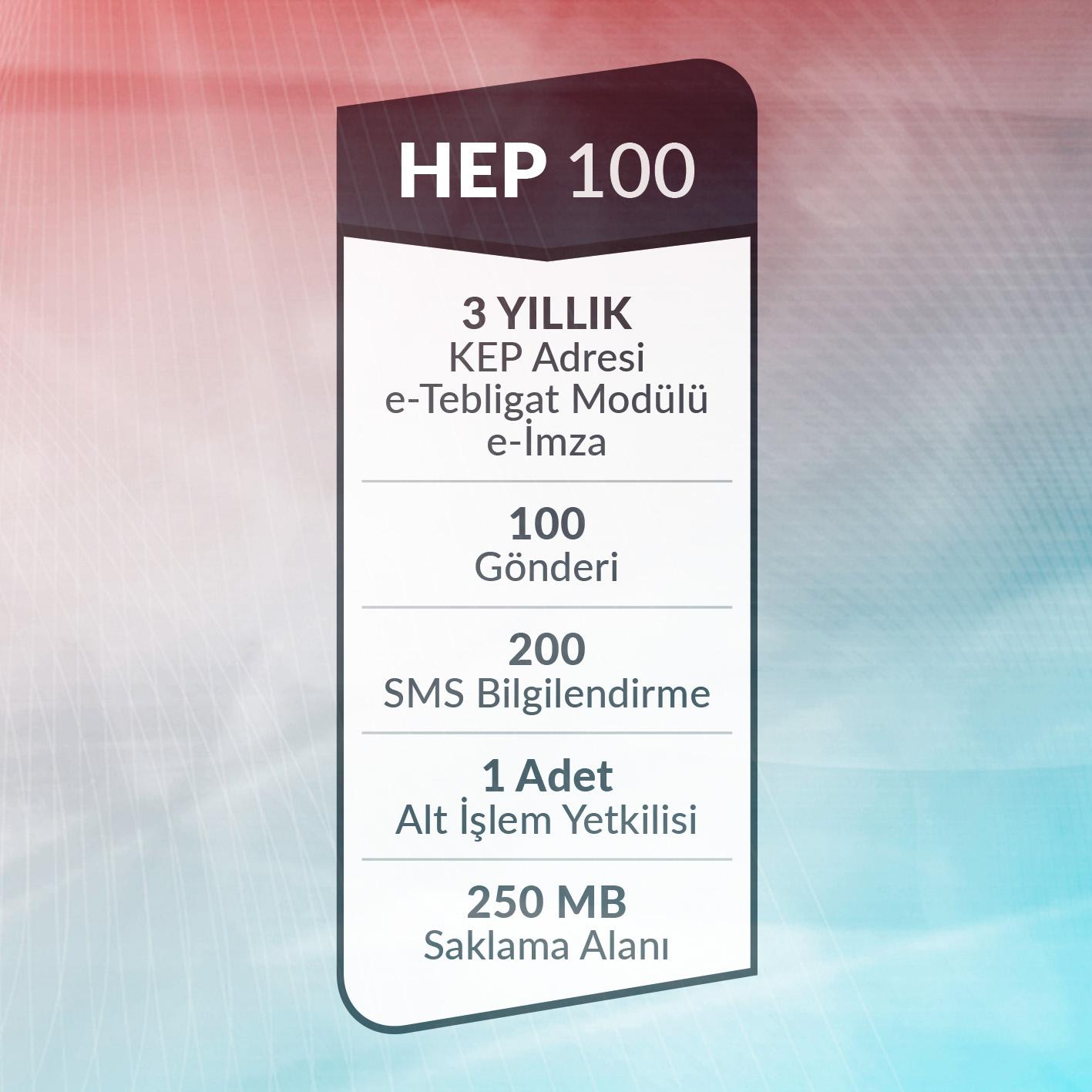e-Tebligat Hepsi Bir Arada HEP100 Paketi